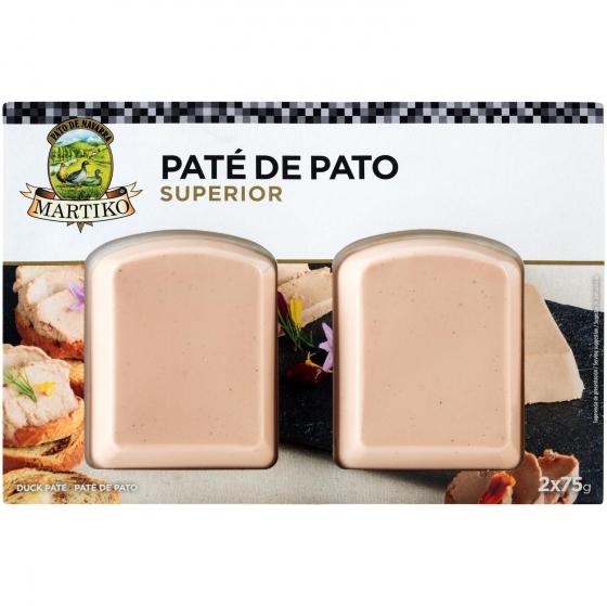 Paté de pato superior Martiko pack de 2 unidades de 75 g.
