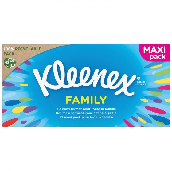 Caja de pañuelos Family Kleenex 140 ud.