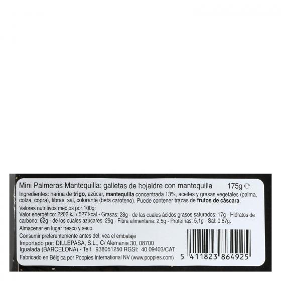 Mini palmeritas de mantequilla 175 g - 3