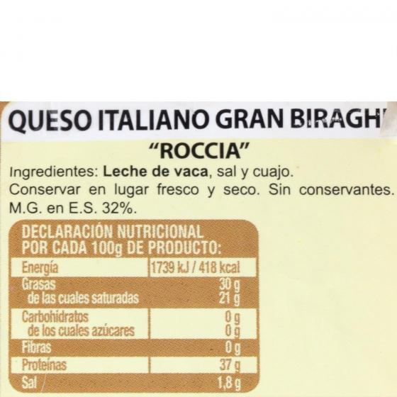 Queso italiano roccia Gran Biraghi Hispano Italiana 250 g aprox - 1