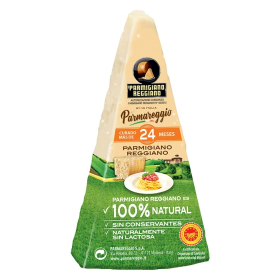 Queso parmigiano reggiano D.O.P. roccia 24 meses curación Parmareggio 200 g aprox