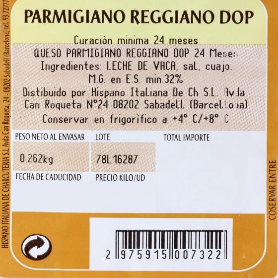 Queso parmigiano reggiano D.O.P. roccia 24 meses curación Parmareggio 200 g aprox - 3