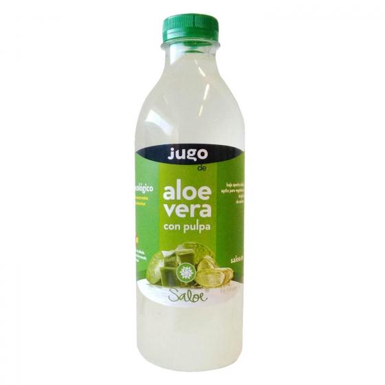Jugo de aloe vera ecológico Saloe Naturae con pulpa botella 1 l.