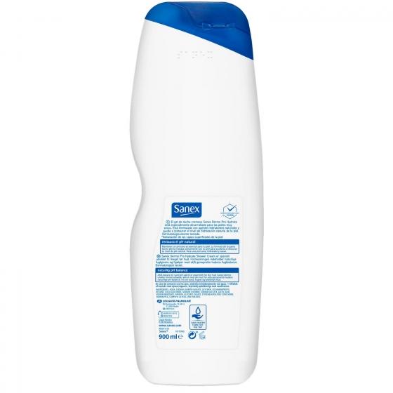 Gel de ducha dermo pro-hydrate para piel muy seca Sanex 900 ml. - 1