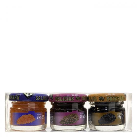 Pack salmón, anchoa y mujjol Eurocaviar 3 ud. - 1