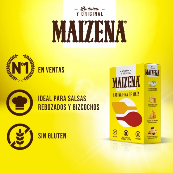 Harina de maíz fina Maizena 400 g. - 1