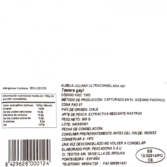 Almeja juliana Carrefour 500 g - 1