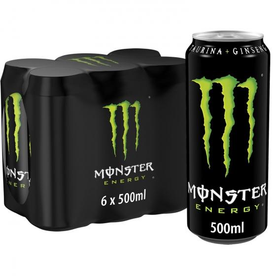Bebida energética Monster Green pack de 6 latas de 50 cl.