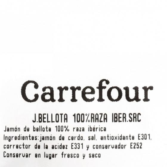 Jamón bellota ibérico curado 100% raza ibérica al corte Sánchez Romero Carvajal sin gluten y sin lactosa 100 g aprox - 5