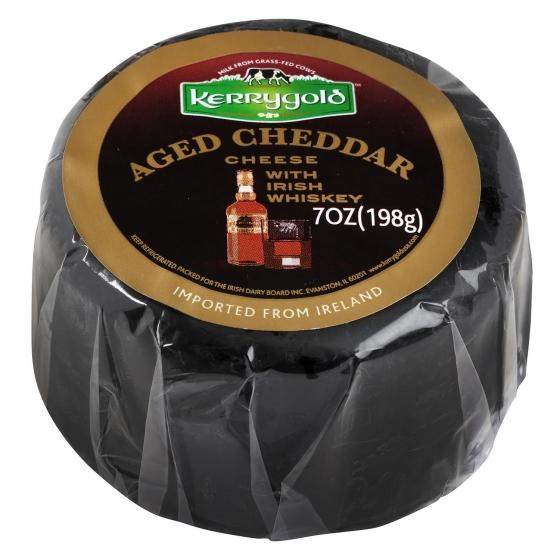 Queso cheddar blanco curado al whiskey Kerrygold 198 g