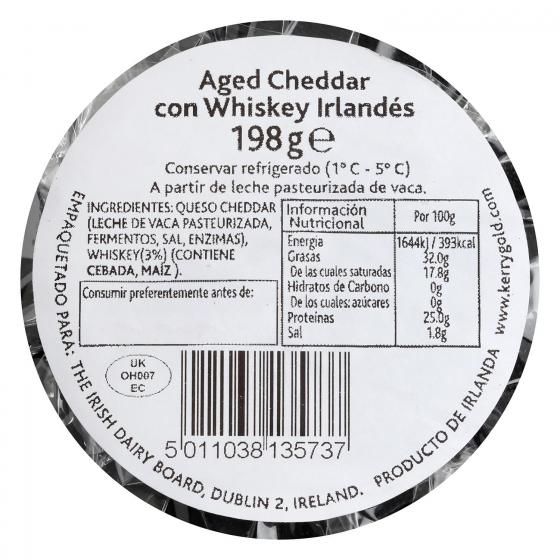 Queso cheddar blanco curado al whiskey Kerrygold 198 g - 3