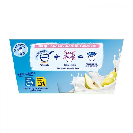Postre lácteo de pera desde 6 meses Nestlé Yogolino sin gluten pack de 4 unidades de 100 g. - 1