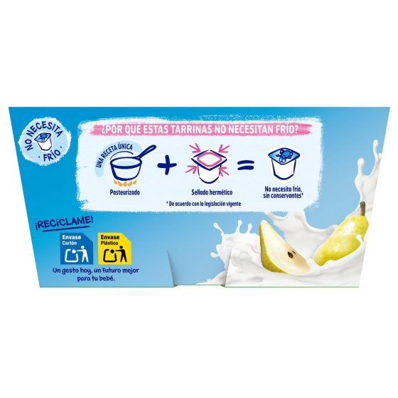 Postre lácteo de pera desde 6 meses Nestlé Yogolino sin gluten pack de 4 unidades de 100 g. - 4
