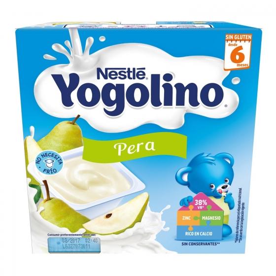 Postre lácteo de pera desde 6 meses Nestlé Yogolino sin gluten pack de 4 unidades de 100 g. - 6