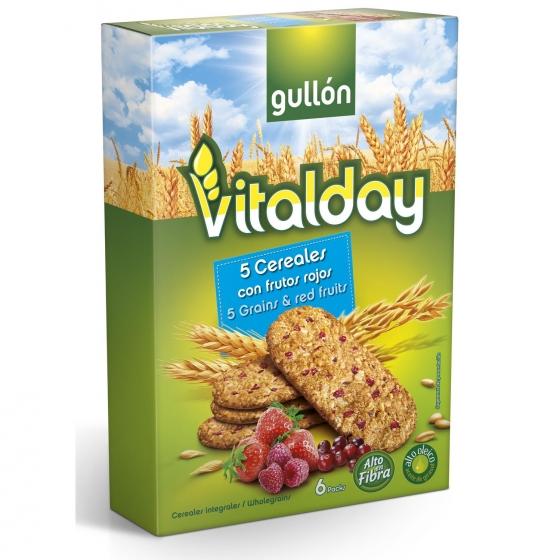 Galletas con cereales y frutos rojos Gullón 240 g.