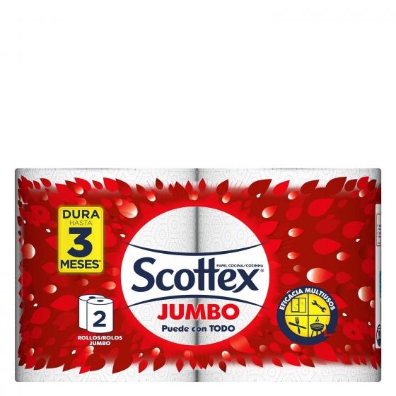 Papel de cocina Jumbo Scottex 2 rollos.
