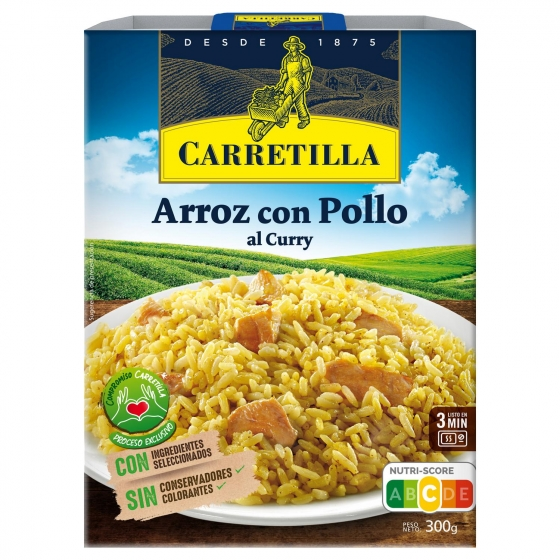 Arroz con pollo al curry Carretilla 300 g.