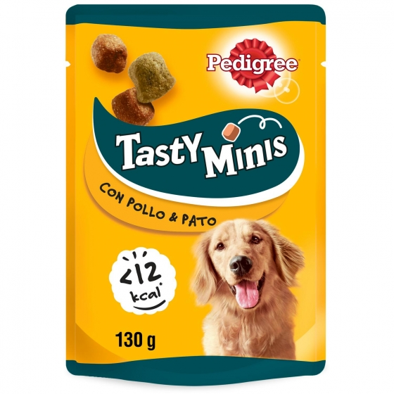 Snack de carne y aves Pedigree Tasty Bites Chewy Cubes 130 g.