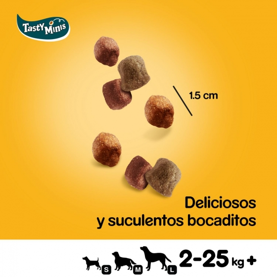 Snack de carne y aves Pedigree Tasty Bites Chewy Cubes 130 g. - 3