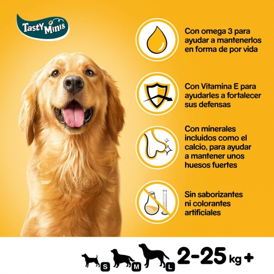 Snack de carne y aves Pedigree Tasty Bites Chewy Cubes 130 g. - 4