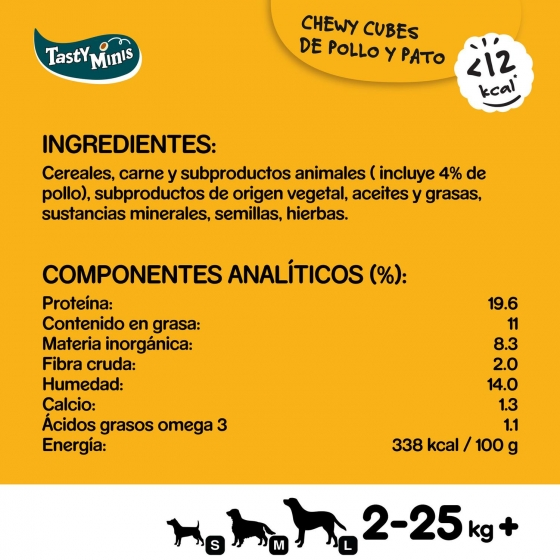 Snack de carne y aves Pedigree Tasty Bites Chewy Cubes 130 g. - 6