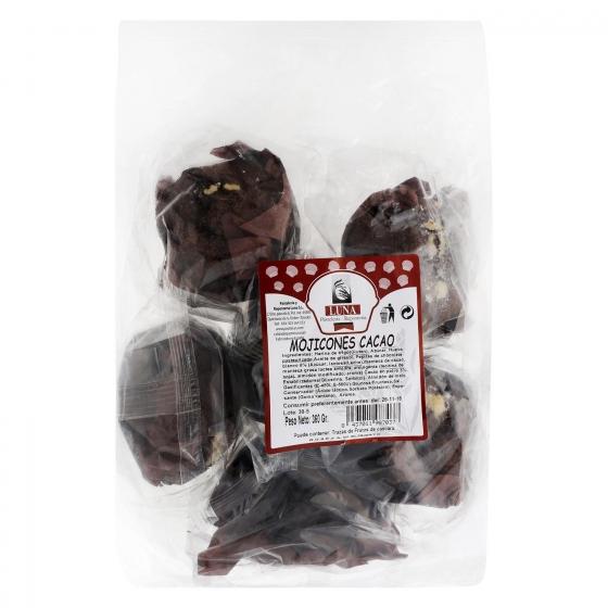 Mojicones cacao Luna 360 g.