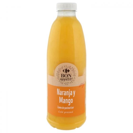 Zumo de naranja y mango Carrefour botella 1 l.