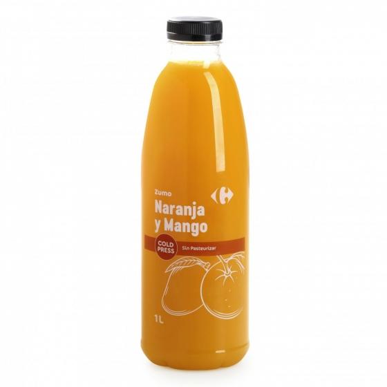 Zumo de naranja y mango Carrefour botella 1 l. - 3
