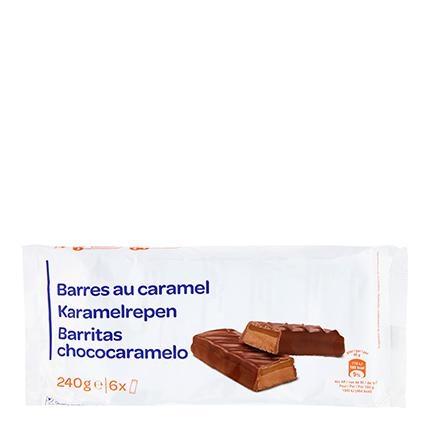 Barritas de chocolate rellenas de caramelo 6 ud.