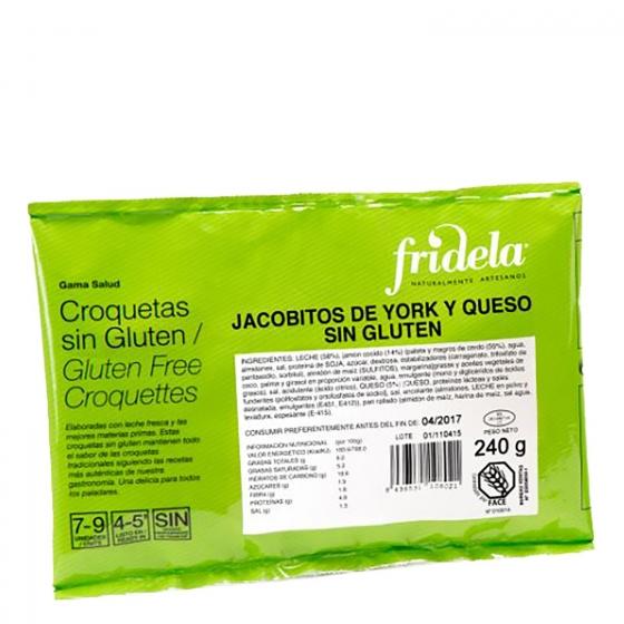 Jacobitos de york y queso Fridela sin gluten 240 g.
