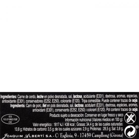 Longaniza extra reserva Splendis Food por piezas al corte 1 Kg aprox - 3