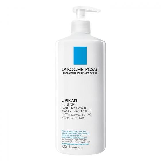 Fluido hidratante Lipikar La Roche-Posay 750 ml.