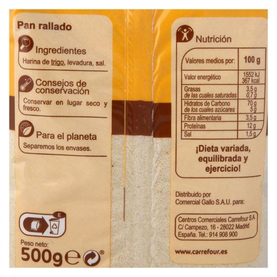Pan rallado Carrefour 500 g. - 1