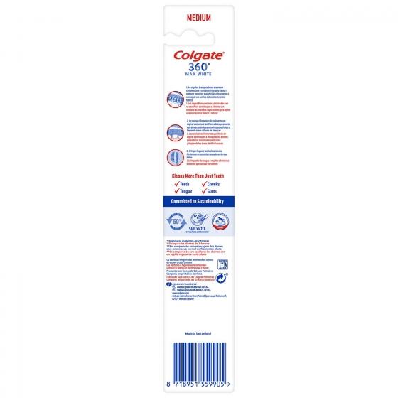 Cepillo dental Max White Expert medium Colgate 1 ud. - 4