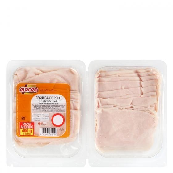 Pechuga de pollo loncha fina ElPozo bipack (2x200g) envase 400 g - 1