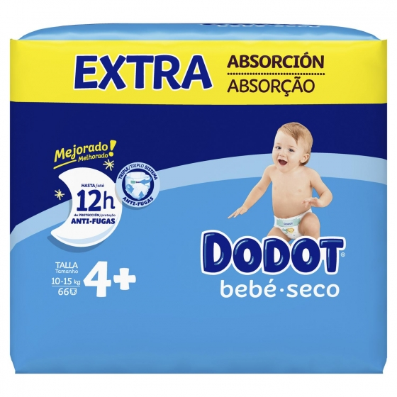 Pañales Dodot extra absorción T4+ (10kg-15kg.) 74 ud. - 3