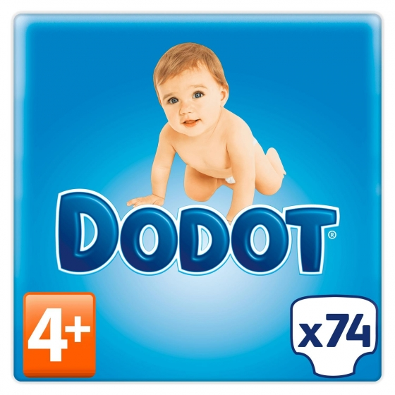 Pañales Dodot extra absorción T4+ (10kg-15kg.) 74 ud. - 6
