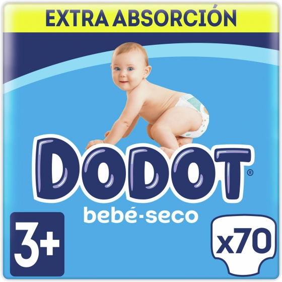 Pañales Dodot extra absorción T3+ (7kg-11kg.) 78 ud.