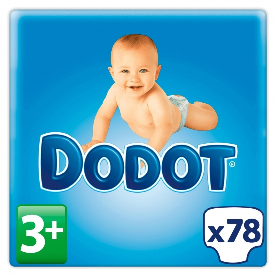 Pañales Dodot extra absorción T3+ (7kg-11kg.) 78 ud. - 6