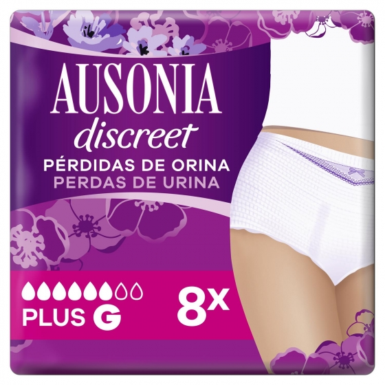 Pants para pérdidas de orina Talla G plus Ausonia Discreet 8 ud.