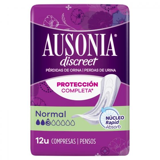 Compresas para pérdidas de orina normal Ausonia Discreet 12 ud.