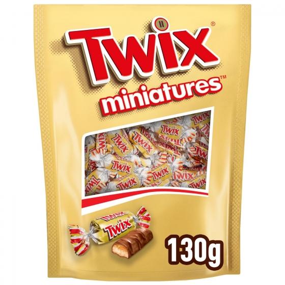 Barrita de chocolate y galleta rellena de caramelo mini Twix 130 g.