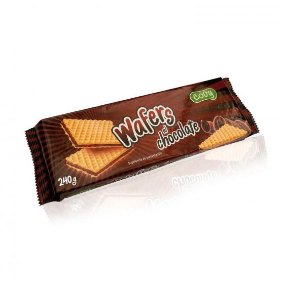Galletas de barquilllo de chocolate Wafers 240 g.