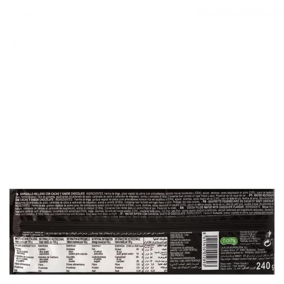 Galletas de barquilllo de chocolate Wafers 240 g. - 1