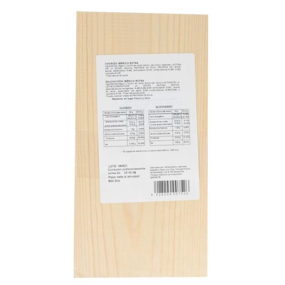 Lote 2 embutidos ibericos cebo pieza: chorizo y salchichón Emb. España 800 g - 1