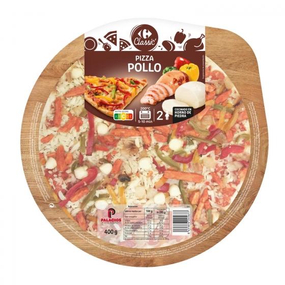 Pizza de pollo Carrefour 400 g.