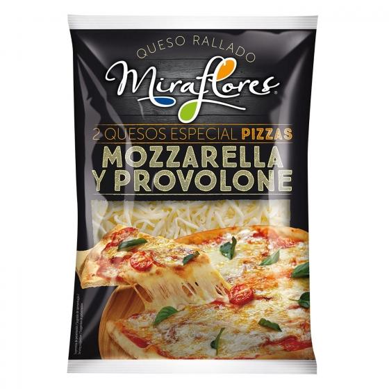 Queso rallado mozzarella y provolone Miraflores 150 g.