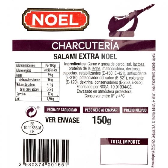 Salami extra loncheado Embutidos Noel 150 g - 3