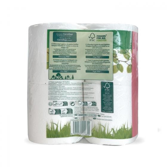 Papel higiénico confort suave Carrefour 12 rollos. - 3