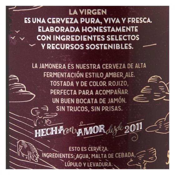 Cerveza artesana La Virgen Jamonera Amber Ale botella 33 cl. - 3